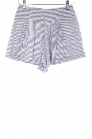 American Apparel Shorts grey-white striped pattern casual look