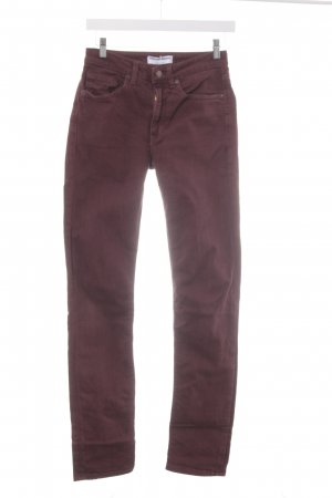 American Apparel Skinny Jeans bordeauxrot Casual-Look