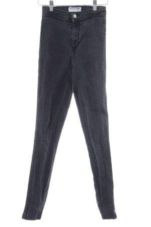 American Apparel Skinny Jeans dunkelgrau Biker-Look