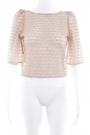 American Apparel Lace Blouse beige simple style