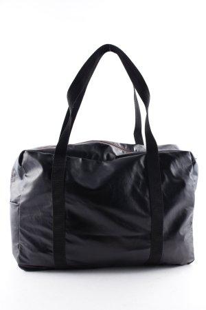 American Apparel Sporttasche schwarz-bordeauxrot sportlicher Stil