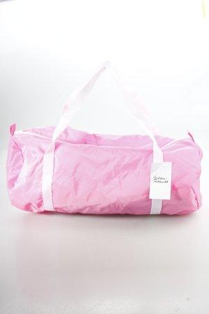 American Apparel Sporttasche weiß-neonpink sportlicher Stil