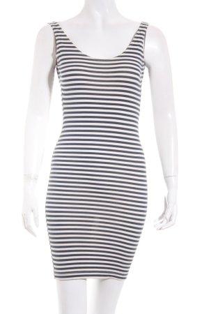 American Apparel Stretchkleid creme-dunkelblau Streifenmuster Beach-Look