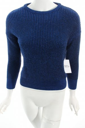 American Apparel Strickpullover blau Glanz-Optik