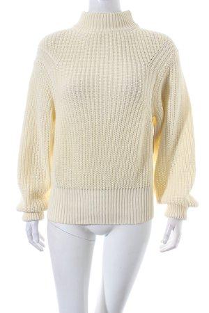 American Apparel Strickpullover creme minimalistischer Stil