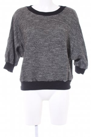 American Apparel Strickpullover schwarz-grau Casual-Look