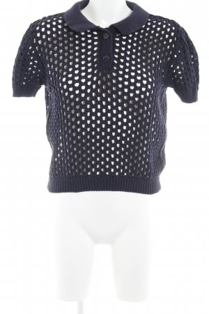 American Apparel Strickshirt dunkelblau minimalistischer Stil