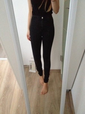 American Apparel super highwaisted Skinnyjeans Gr. XS 34 anthrazit dunkelgrau