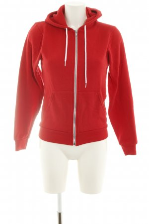 American Apparel Giacca fitness rosso stile casual