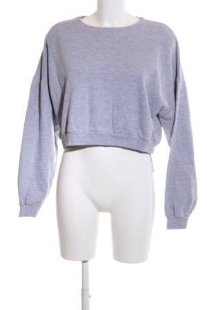 American Apparel Sweatshirt hellgrau meliert Casual-Look