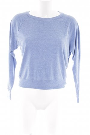 American Apparel Sweatshirt himmelblau-wollweiß Casual-Look