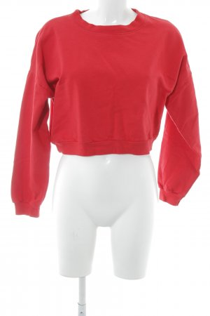 American Apparel Sweatshirt rot Street-Fashion-Look