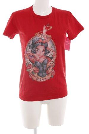 American Apparel T-shirt rouge imprimé avec thème style décontracté