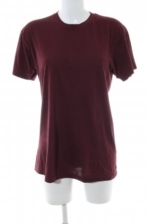 American Apparel T-shirt rosso stile casual
