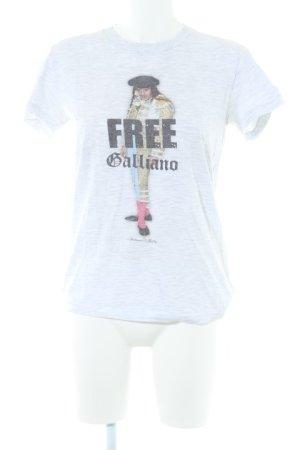 American Apparel T-Shirt hellgrau meliert Casual-Look