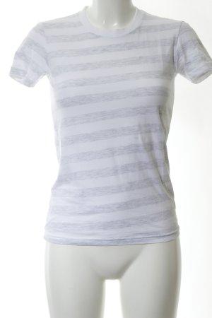 American Apparel T-shirt bianco-grigio chiaro puntinato stile casual