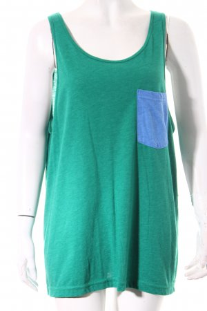 American Apparel Tank Top forest green-cornflower blue skater style