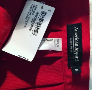 American Apparel Tennis Pleated Skirt Red