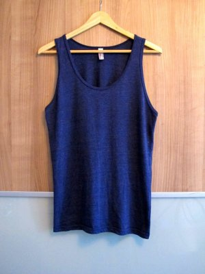 American Apparel Tank Top blue cotton