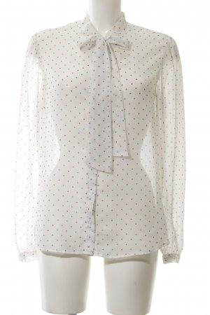 American Apparel Transparenz-Bluse Punktemuster Business-Look