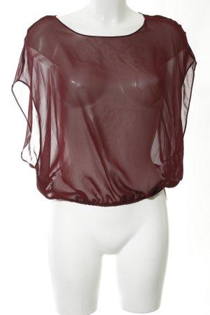 American Apparel Blusa trasparente rosso elegante