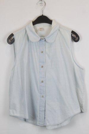 American Apparel Gilet en jean bleu pâle coton