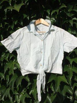 American Apperel Crop Shirt zum Knoten Washed Jeans