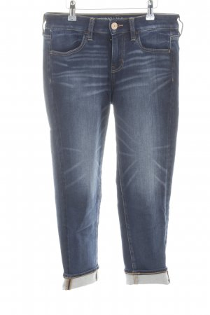American Eagle Outfitters 7/8-jeans neon blauw straat-mode uitstraling