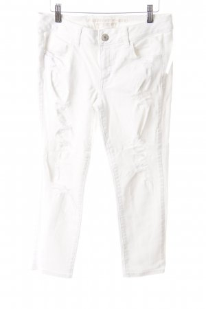 American Eagle Outfitters Jeans 7/8 blanc