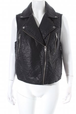 American Eagle Outfitters Biker Vest black-silver-colored biker look