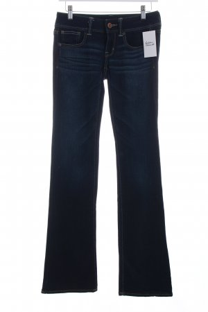 American Eagle Outfitters Boot Cut Jeans dunkelblau Washed-Optik