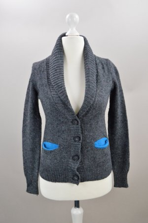 American Eagle Outfitters Cardigan Wolle grau Größe S