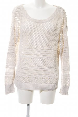 American Eagle Outfitters Grobstrickpullover weiß Allover-Druck Casual-Look