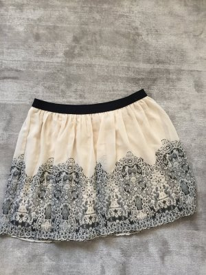 American Eagle Outfitters Miniskirt oatmeal polyester