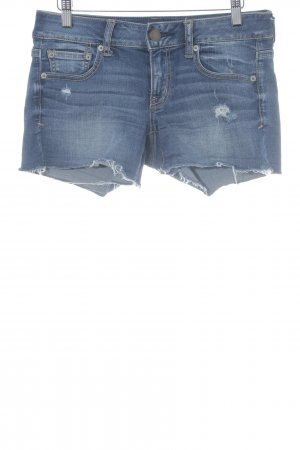 American Eagle Outfitters Hot Pants blau Casual-Look