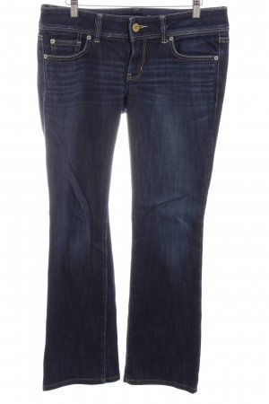 American Eagle Outfitters Low Rise jeans donkerblauw straat-mode uitstraling