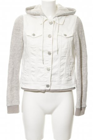 American Eagle Outfitters Spijkerjack wolwit-lichtgrijs Materiaalmix-look
