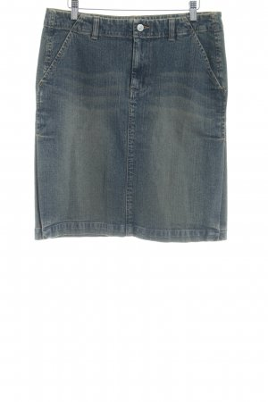 American Eagle Outfitters Jeansrock blau Washed-Optik