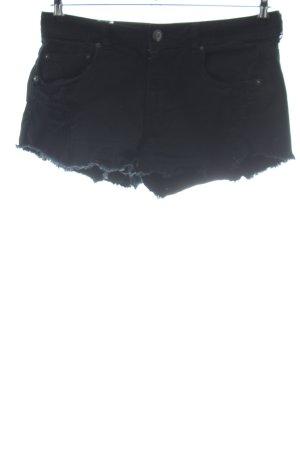 American Eagle Outfitters Pantaloncino di jeans nero stile casual