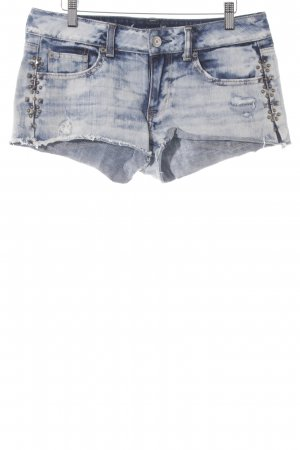 American Eagle Outfitters Jeansshorts blau-weiß Farbverlauf Casual-Look
