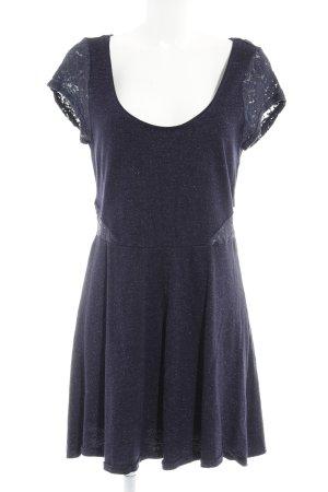 American Eagle Outfitters Jerseykleid dunkelblau-silberfarben Elegant