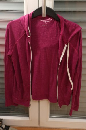 American Eagle Outfitters Sweat Jacket magenta-violet