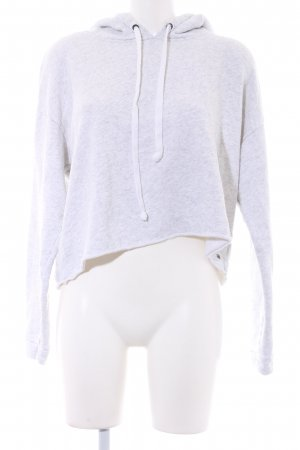 American Eagle Outfitters Capuchon sweater wit-lichtgrijs gestippeld