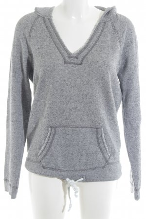 American Eagle Outfitters Hooded Sweatshirt light grey flecked casual look