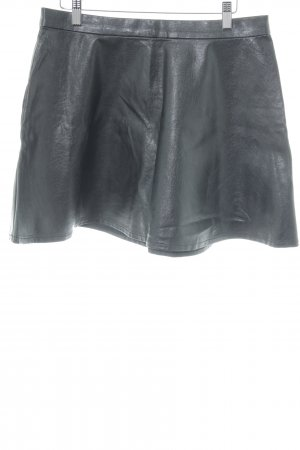 American Eagle Outfitters Rok van imitatieleder zwart casual uitstraling