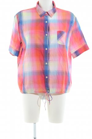 American Eagle Outfitters Kurzarm-Bluse Karomuster Casual-Look