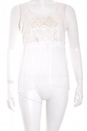 American Eagle Outfitters Short Sleeved Blouse natural white-cream elegant