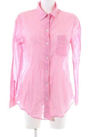 American Eagle Outfitters Camicetta a maniche lunghe rosa motivo a righe