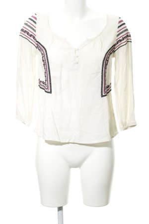 American Eagle Outfitters Langarm-Bluse creme Boho-Look