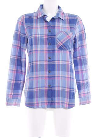 American Eagle Outfitters Long Sleeve Shirt blue-pink check pattern casual look
